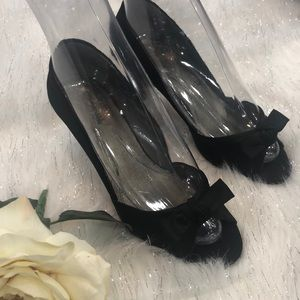 Kenneth Cole Reaction satin bow dressy heel party
